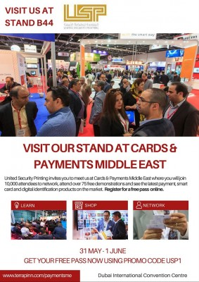Visit Our Stand At Cards & Payments Middle East